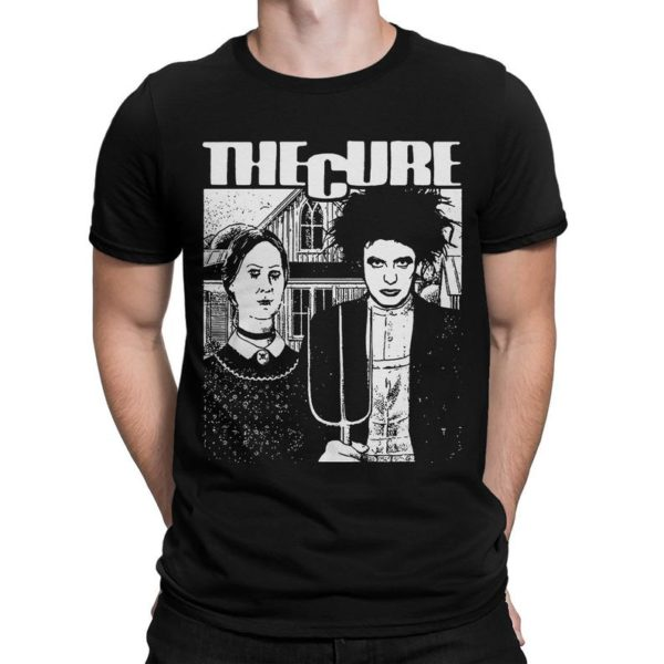 The Cure Band Horror Style T-Shirt Robert Smith Rock Tee image 0