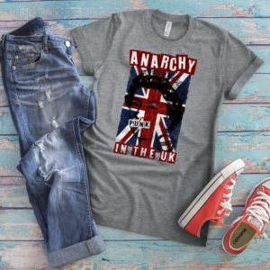 Anarchy In The UK Shirt British Flag Vintage Tshirt Vintage image 0