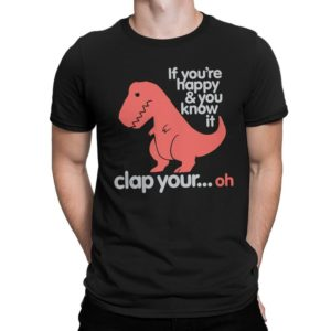 Dinosaur T-Rex Funny T-Shirt Men's Women's All Sizes image 0