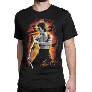 Bruce Lee Graphic T-Shirt Men's Women's Cotton Tee image 0