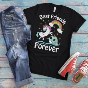 Unicorns And Narwhals Best Friends Forever Cute Fantasy image 0