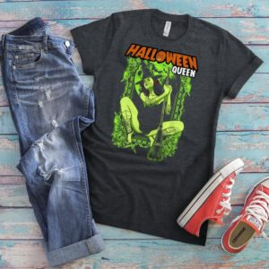 Halloween Queen Shirt Sexy Witch T-Shirt Nu Goth Gifts image 0