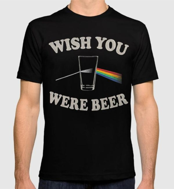 Pink Floyd Wish You Were Beer Funny T-Shirt Men's image 0
