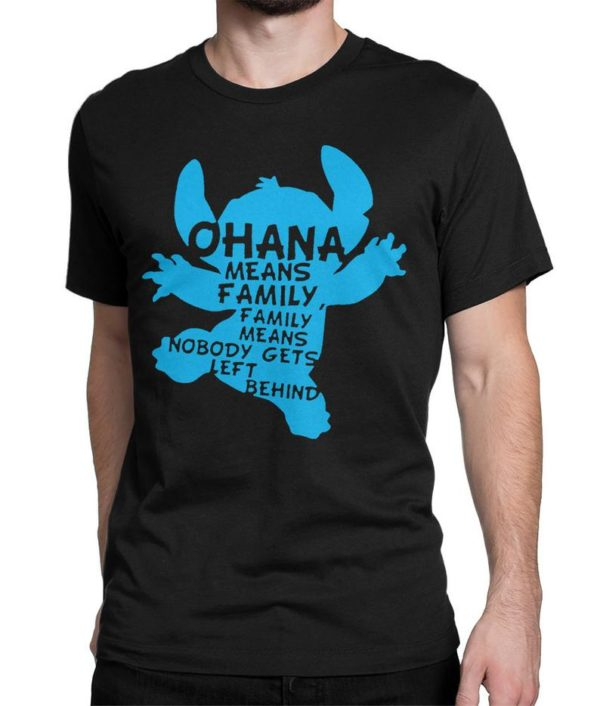 Lilo and Stitch Ohana Means Family T-Shirt Men's image 0