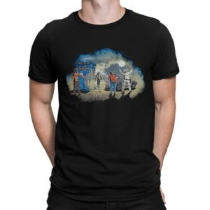 Time Travelers Art T-Shirt Doctor Who Terminator Back To The image 0