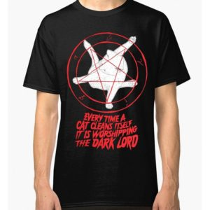 Cat Pentagram Funny T-Shirt Men's Women's All Sizes image 0