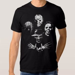 Cult Classic Horror Movies T-Shirt Michael Myers Pinhead image 0