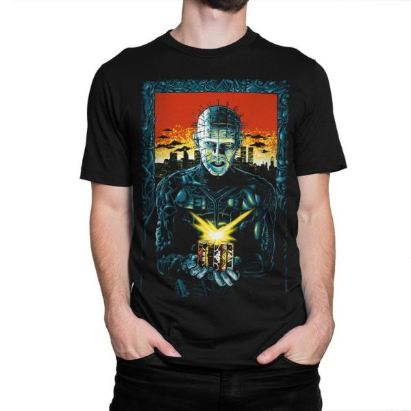 Hellraiser Pinhead Art T-Shirt Men's Women's Cotton image 0