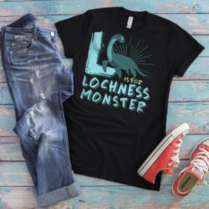 Funny Lochness Monster Shirt Women's Vintage Tshirt Loch image 0
