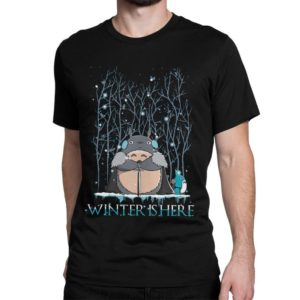 Totoro x Game of Thrones Funny T-Shirt Studio Ghibli Movie image 0