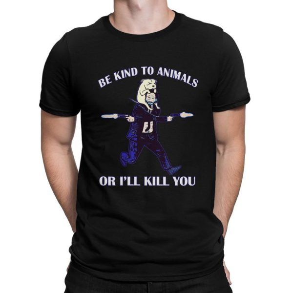Keanu Reeves Be Kind to Animals Funny T-Shirt Men's image 0
