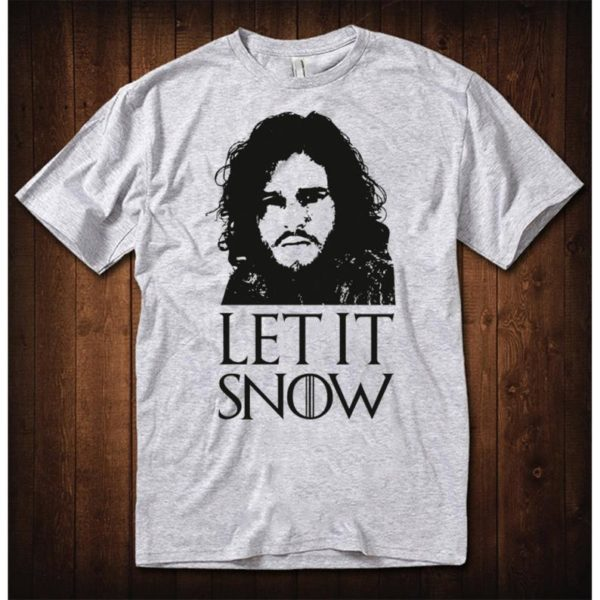 Game of Thrones Let It Snow Jon Snow T-Shirt Men's image 0