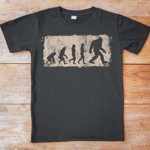 Bigfoot Evolution Funny Big Foot Shirt Yeti Sasquatch image 0