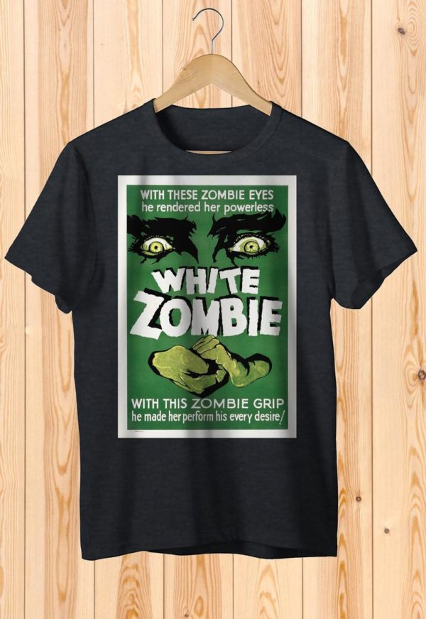 White Zombie Retro Scary Movie Poster Art Shirt  Cult image 0