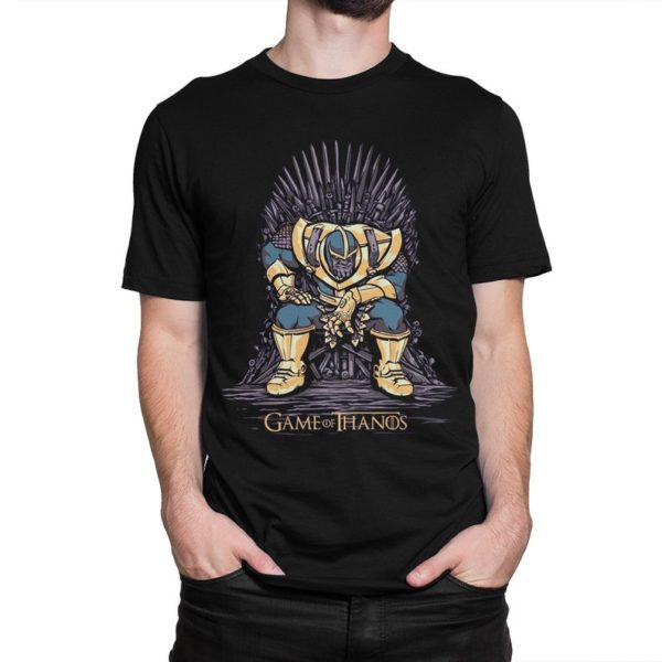 Thanos On The Iron Throne T-Shirt Game of Thrones x Marvel image 0