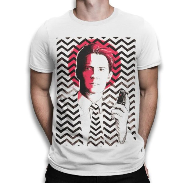 Twin Peaks Dale Cooper Graphic T-Shirt Cotton Tee Men's White