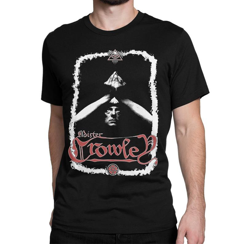 Aleister Crowley Graphic T-Shirt Men's Women's All image 0