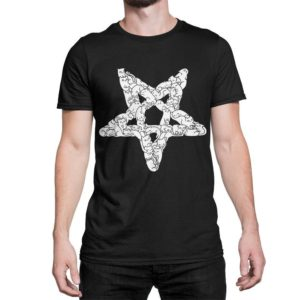 Cats Pentagram Funny T-Shirt Men's Women's All Sizes image 0