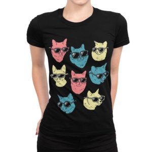 Cats In Glasses Funny T-Shirt Men's Women's All Sizes image 0