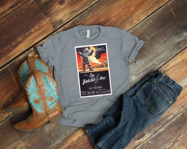 The Invisible Boy Retro Movie Poster Art Shirt  Cult image 0