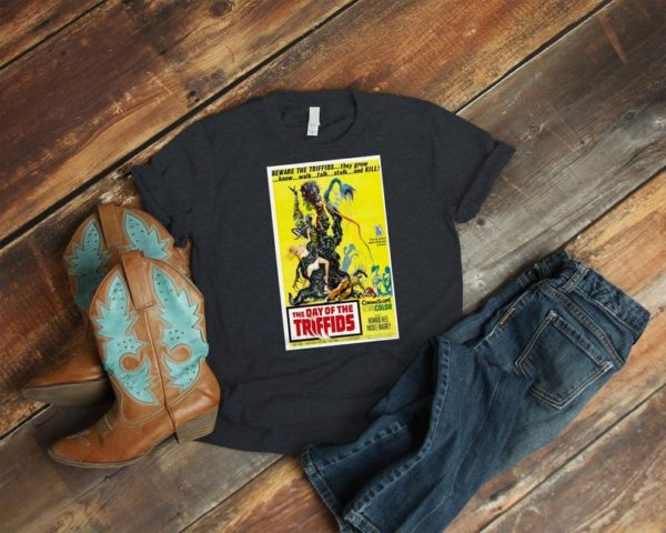 The Day Of The Triffids Retro Movie Poster Art Shirt  Cult image 0