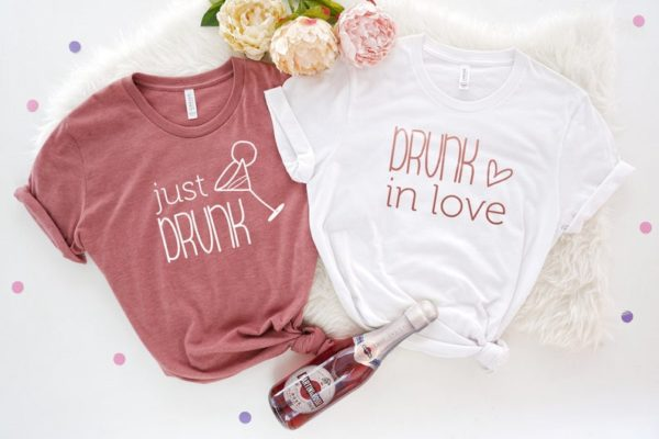 Drunk in Love Shirt Just Drunk Bachelorette Party Shirts image 0