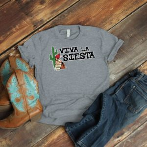 Viva La Siesta Shirt Spanish Teacher T-Shirt Mexican Gifts image 0