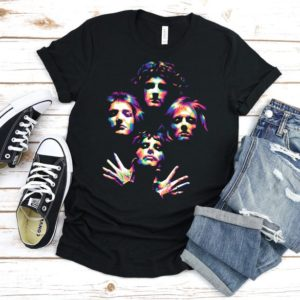 Queen T-Shirt Abstract Queen Band Shirt Vintage Queen Shirt image 0