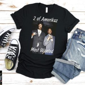 2 of Amerikaz Most Wanted Tupac and Snoop Dogg T-Shirt Solid Black Blend