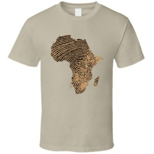Africa Finger Print Identity Black History Month Classic T image 0