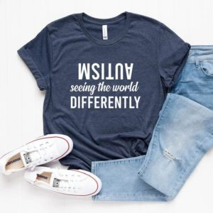 Autism Seeing The World Differently Autism Awareness Shirt image 0