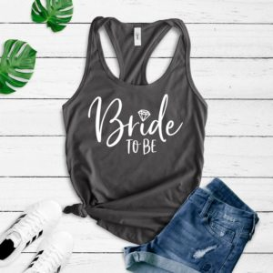 Bride to be tank top Wedding Day Tank Top Engaged Tank Top image 0
