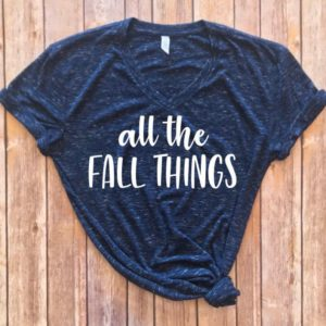All the Fall things shirt Fall shirt Cute fall shirt image 0