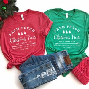 Farm Fresh Christmas Trees Shirt  Matching Family Christmas  image 0