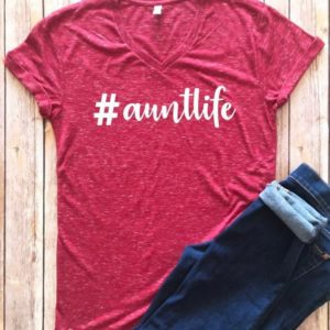 Auntlife shirt Aunt life crew neck t-shirt gift for aunt image 0