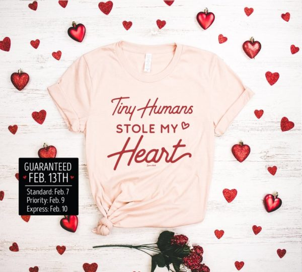 Tiny Humans Stole My Heart Shirt, XOXO Shirt, Teacher Valentines Day Shirt, Valentines Shirt, Valentine Shirt, Valentines Outfit