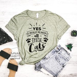 Cat Mama Mother Of Cats Cat Shirt Cat Shirts Cat Lover image 0