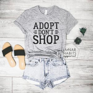 Adopt Dont Shop Dog Shirt Cat Shirt Rescue Shirt Dog Lover image 0