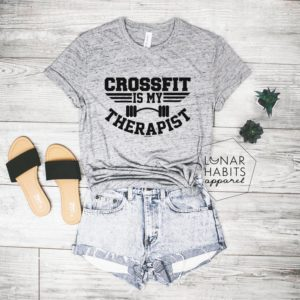 Crossfit Is My Therapist Crossfit Shirt Crossfit Tanks For image 0