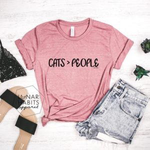 Cats Over People Cat Mama Cat Shirt Cat Lover Gift Cat image 0
