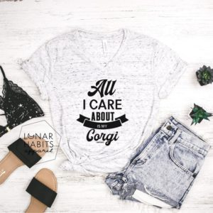 All I Care About Is My Corgi Shirt Corgi Lover Shirt Corgi image 0
