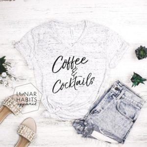 Coffee And Cocktails Shirt Coffee Shirt Gift For Coffee image 0