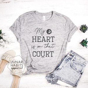 My Heart Is On That Court Basketball Shirts Basketball image 0