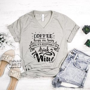 Coffee And Wine Shirt Coffee Shirt Gift For Coffee Lover image 0