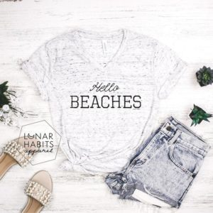 Hello Beaches Vacay Shirt Vacation Shirt Beach Shirt image 0