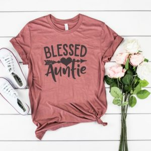 Aunt Shirt Blessed Auntie T-shirt image 0