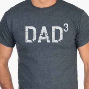 DAD 3 T Shirt Dad Cubed Gift for dad Dad gifts Christmas image 0