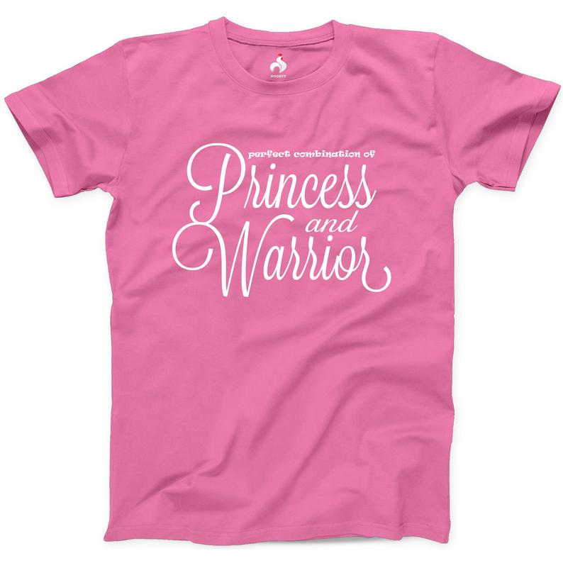 Perfect Combination Of Princess and Warrior Tshirt 100% Cotton NEW Mens Athletic Tee Soldier Woman Mom Ladies T-shirt Queen Love Baddie Tee