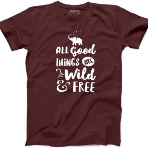 All Good Things Wild and Free Mens T Shirt Funny Forest Camp image 0