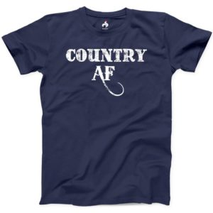 Country AF Tshirt 100% Cotton New Mens Southern Texas Boots image 0